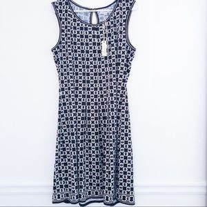 Max Studio Black & White Swing Dress Size XL